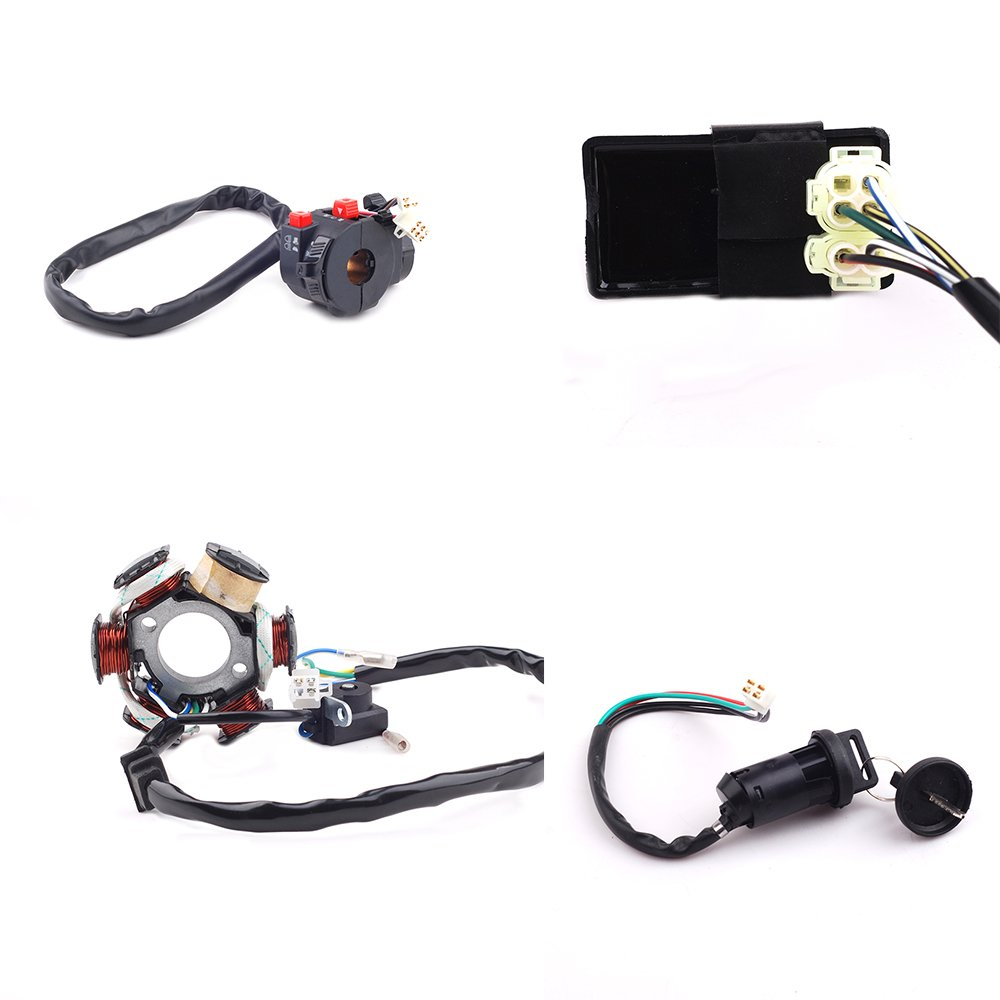 Cisno Complete Electrics Wiring Harness Wire Loom Magneto Stator For Diy Auto Harnesswire Manufacturing Cable Assembly Gy6 4 Stroke Engine Type 125cc 150cc Pit Bike Scooter Atv Quad Car