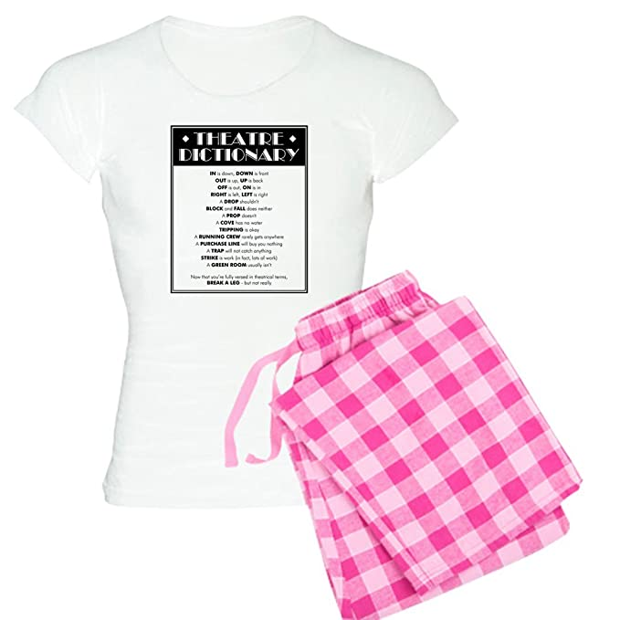 689ecb3a6f Amazon.com  CafePress - Theatre Dictionary - Womens Novelty Cotton Pajama  Set