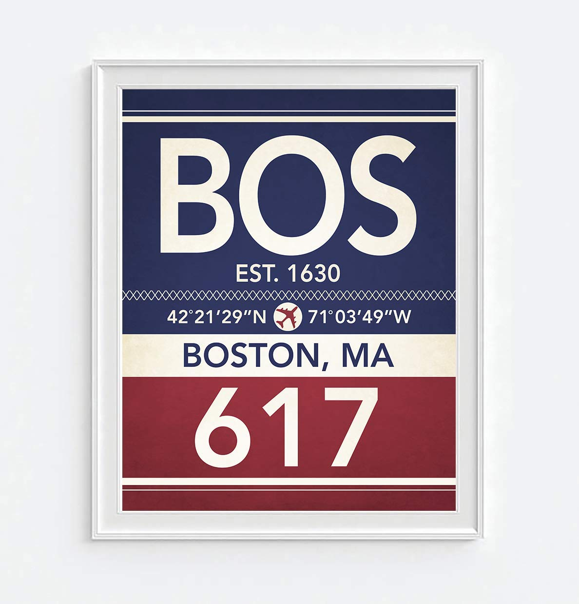 Boston Subway Map Poster.Amazon Com Boston Massachusetts Vintage Airport Area Code Map