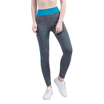 ALIKEEY Vêtements de Yoga Tapis de Yoga Collants de Sport Femmes Gym Yoga  Patchwork Sports Running 45d4a2b2977