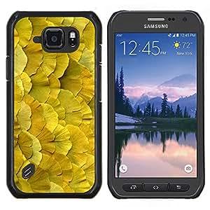 Stuss Case / Funda Carcasa protectora - Floral de primavera y verano Naturaleza Amarillo - Samsung Galaxy S6 Active G890A