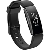 TERSELY Sport Band Strap for Fitbit Inspire 2/1 / HR, Soft TPU Silicone Metal Buckle Replacement Bands Fitness Sports…