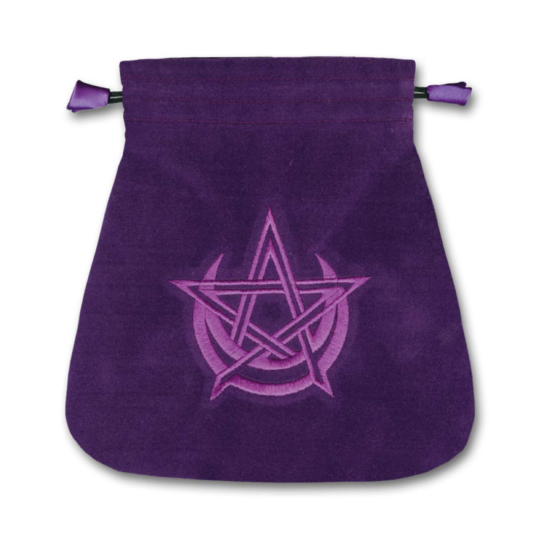 Pagan Moon Velvet Tarot Bag: Lo Scarabeo: 9780738729466 ...