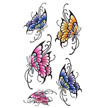 d5a91b042dcb1 Amazon.com : GGSELL King Horse Waterproof tattoo sticker for women sexy  stylish butterfly : Body Paint Makeup : Beauty