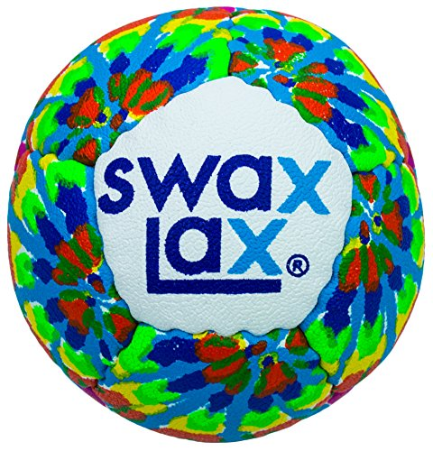 SWAX LAX Lacrosse Training Ball (Tie Dye) Same Size and Weight as Regulation Lacrosse Ball but Soft - No Rebounds, No Bounce Practice Ball