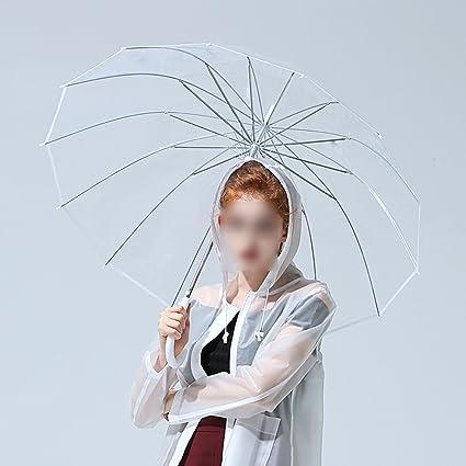 KXBYMX Paraguas Transparente Grueso, Pequeño Paraguas Fresco, Paraguas Personalizado, (Color : Blanco