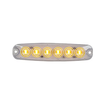 GG Grand General 75861 Amber/Clear 5-1/8 Inch Ultra Thin 6 Led Light, High/Low, 3 Wires: Automotive [5Bkhe0413656]