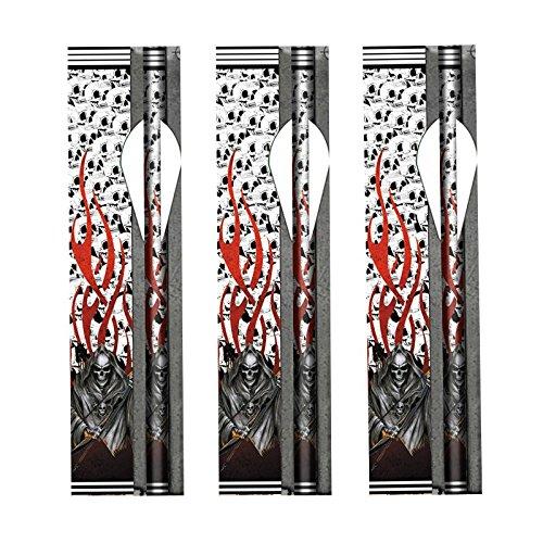 14個/ロットアーチェリー・シャフトのためのリタイア・リーパー・ファイアー・アロー・ラップフレッチャー・アーチェリー・ボン・ハンティングの商品画像
