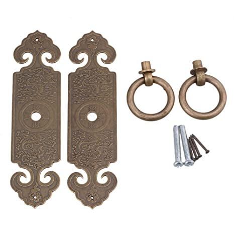 Pack of 2 Antique bronze wooden box handle