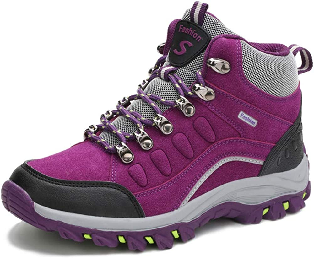 FEOZYZ Hiking Boots for Women and Non-Slip Casual Hiking Shoes