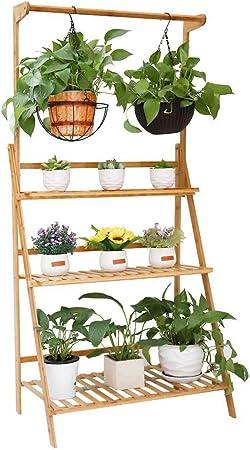 Black 3 Tier Corner Planter Painted Wooden Garden Troughs or Plant Pots