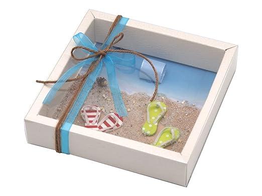 Zauberdeko Geldgeschenk Verpackung Reise Urlaub Flip Flop Strand