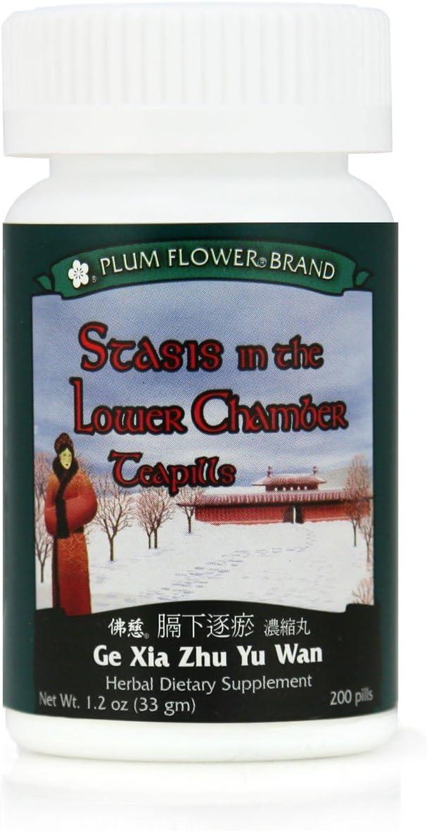 Stasis In The Lower Chamber Teapills Ge Xia Zhu Yu Wan , 200 ct, Plum Flower