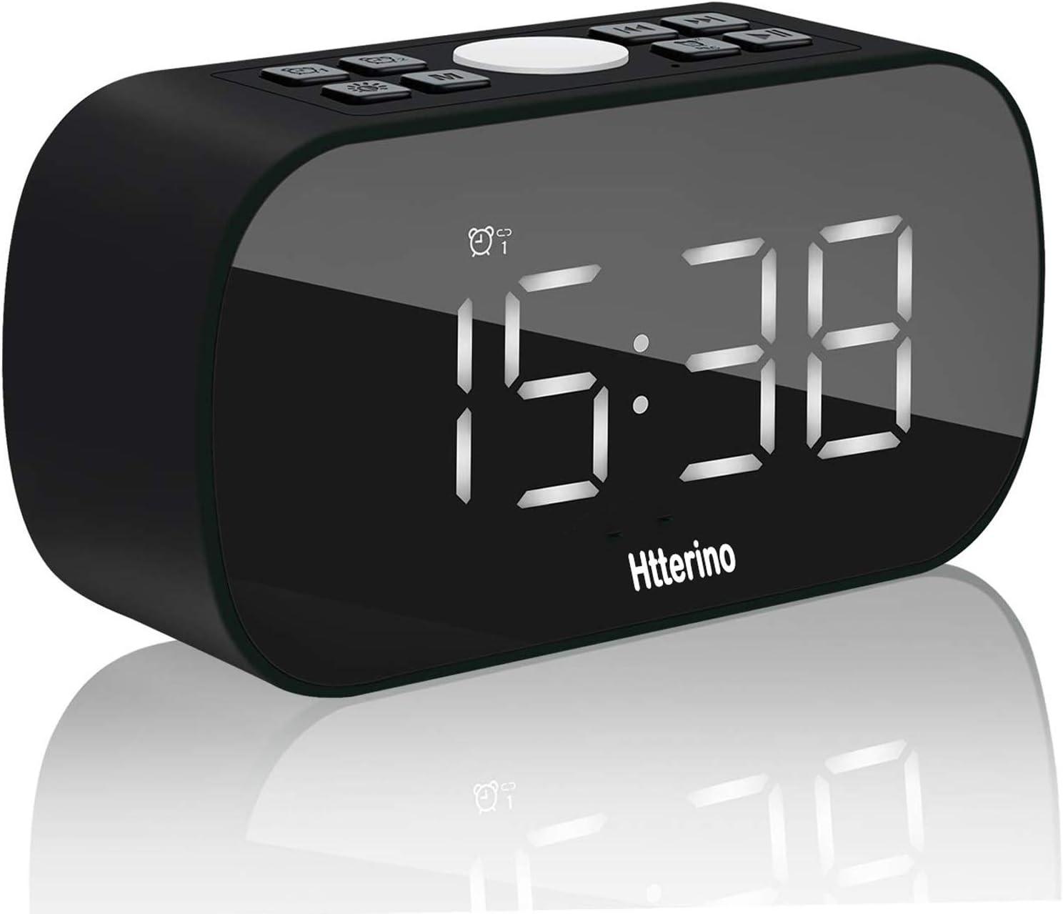 Clock Radios Wireless Bluetooth Speakers Portable Alarm Clock with FM Radio Night Light 5