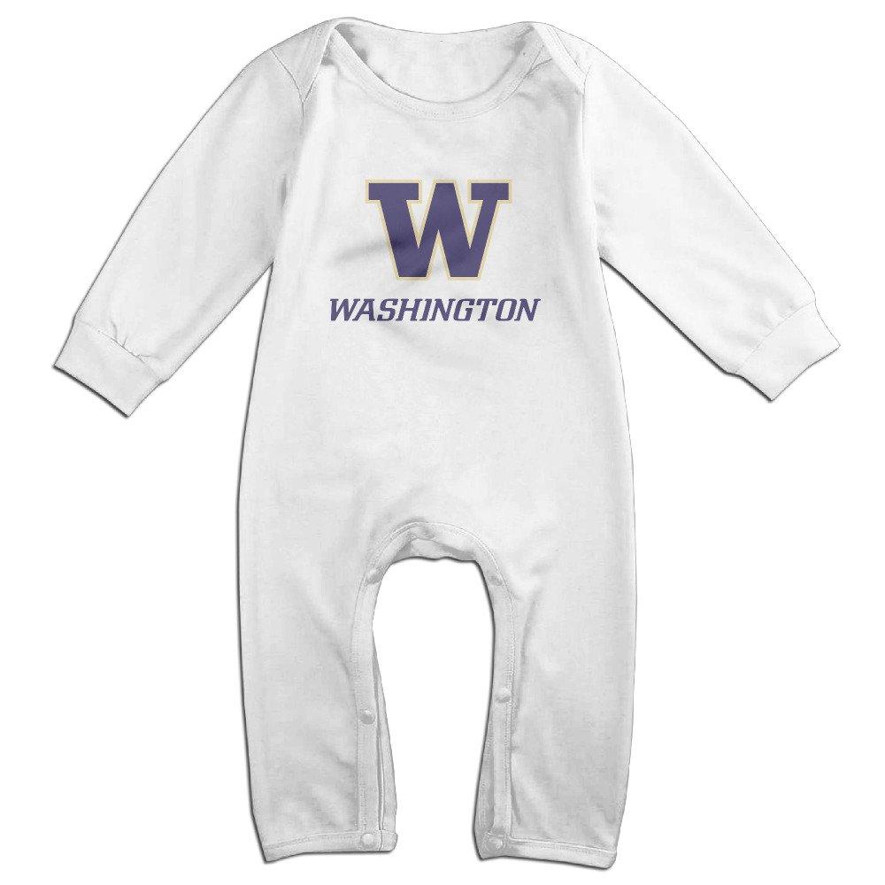 MoMo University Of W Logo Washington Toddler//Infant Romper Jumpsuit Navy
