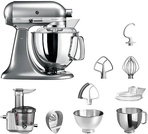 KitchenAid Robot de cocina fop Conjunto | Artisan 5 ksm175ps Licuadora del paquete |, incluye Licuadora vorsatz, Exprimidor y accesorios estándar Gebürstetes Metall: Amazon.es: Hogar