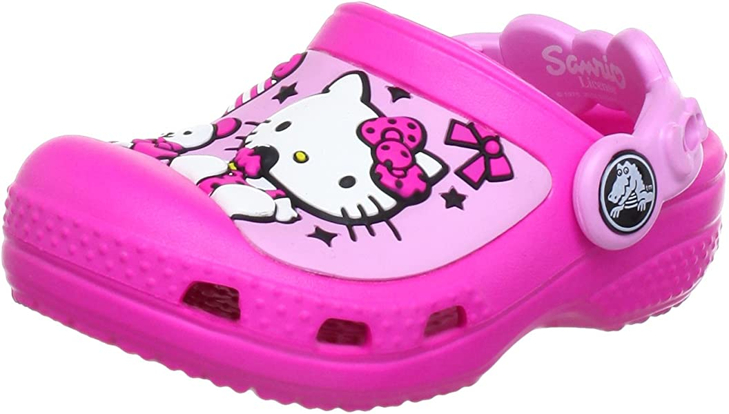 4e629804f87e Kids Creative Hello Kitty Candy Ribbons Clog Mules And Sandal. Back.  Double-tap to zoom