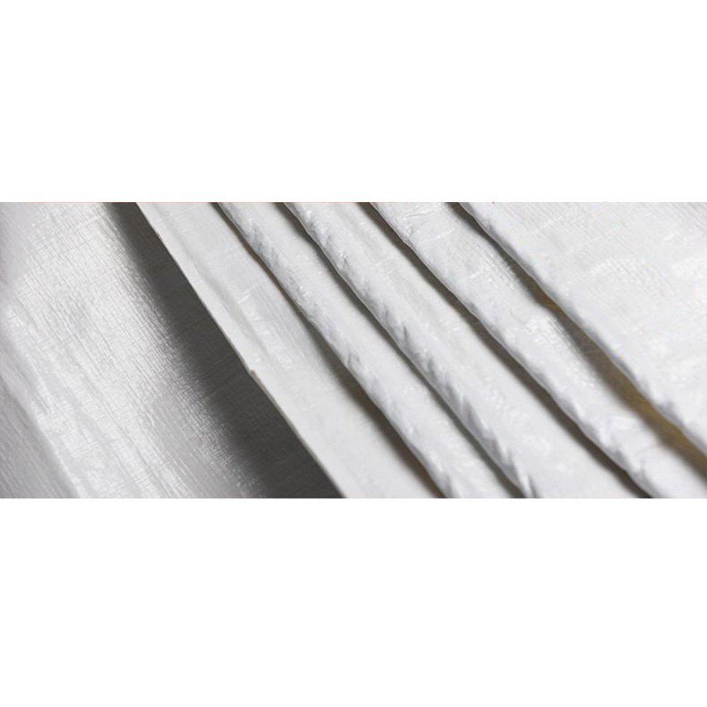 Tarpaulin HUO Telo in Tela Cerata Bianca PE, Impermeabile Anti-UV, Anti-UV, Anti-UV, Leggero Resistente alle muffe 160 g   m2 (Coloreee   Bianca, Dimensioni   5  7m)   marche    Consegna Immediata  5e737d