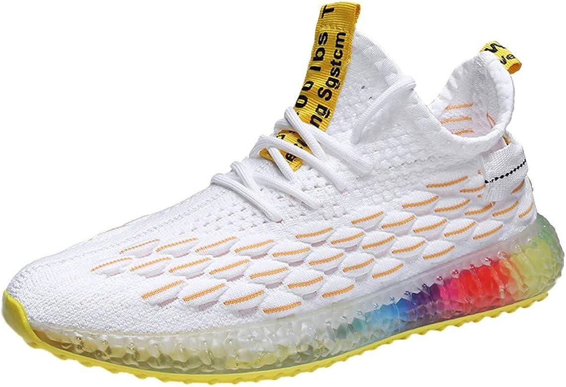 Zapatos de Hombre,ZARLLE Transpirables Zapatos Deportivos,Moda Arco Iris Suela de gelatina Zapatillas de Running,al Aire Libre Zapatos de Punto,2019 Verano otoño Zapatos Casuales: Amazon.es: Ropa y accesorios