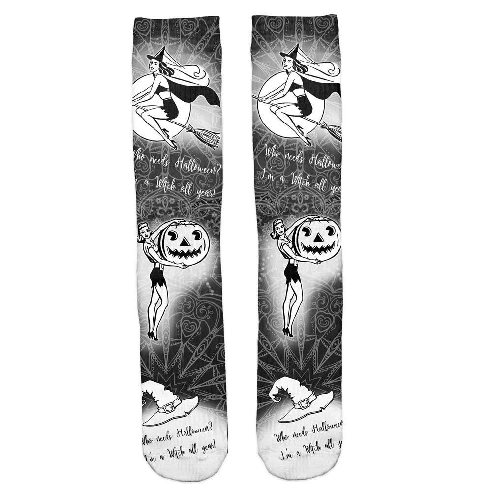 EMILF Home Sports d'hiver en Plein air Camping Chaussettes de Ski de randonnée, Bas pour Femmes PrintedSocks Chaussettes de Sport (Color : D, Size : 38cmx8cm)