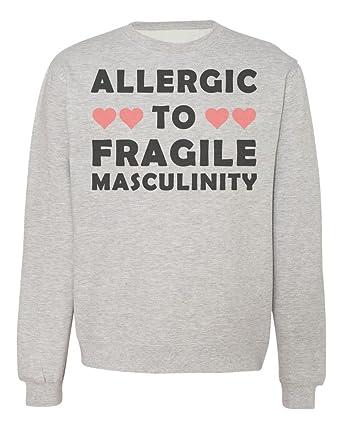 IDcommerce Allergic to Fragile Masculinity Cute Hearts Design Mens Womens Unisex Sweatshirt