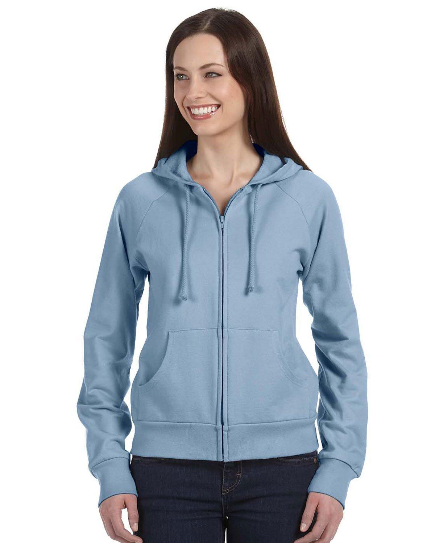 Bella Women's Full-Zip Raglan Hoodie B7007