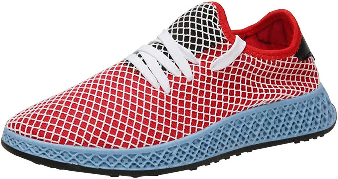 UOMOGO - Zapatillas de Deporte para Hombre, para Correr, Fitness, Running, Zapatillas Bajas, Interiores Informales al Aire Libre, 39-44 Rojo Size: 39 EU: Amazon.es: Zapatos y complementos