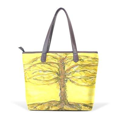 Mr.Weng Household Tree Lady Handbag Tote Bag Zipper Shoulder Bag