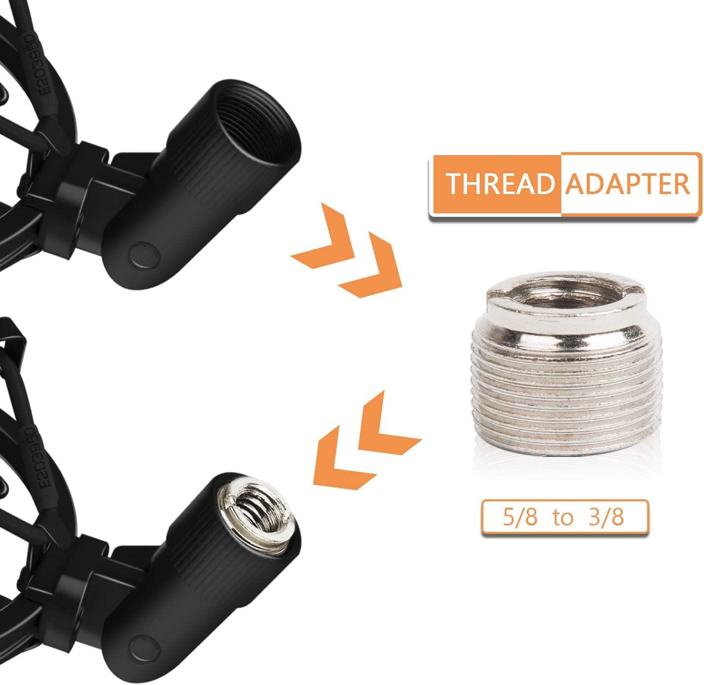 Mic Clip Holder Mount for Diameter 47mm-53mm Mic Anti Vibration Adjustable High Isolation Shock Mount Boseen Universal Microphone Shock Mount
