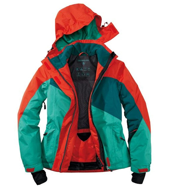 Funktionale Damen Skijacke Snowboardjacke Rot/Grün Crivit Sports