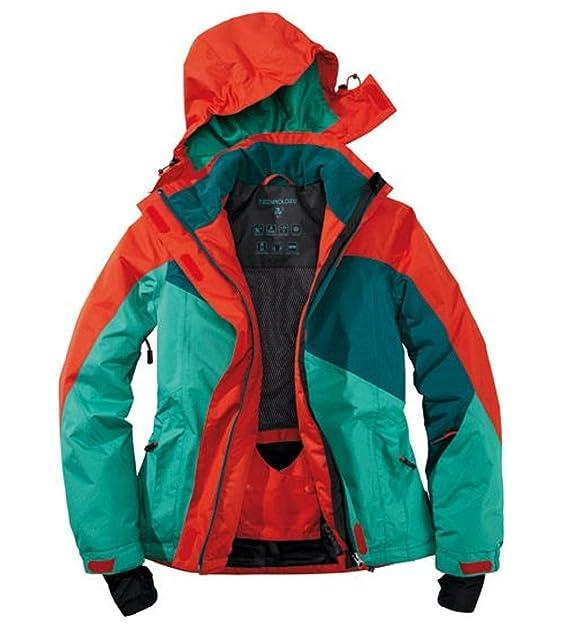 Funcional Mujer Chaqueta de esquí snowboard Chaqueta Rojo/Verde Crivit Sports, Mujer, color rojo/verde, tamaño 42: Amazon.es: Ropa y accesorios