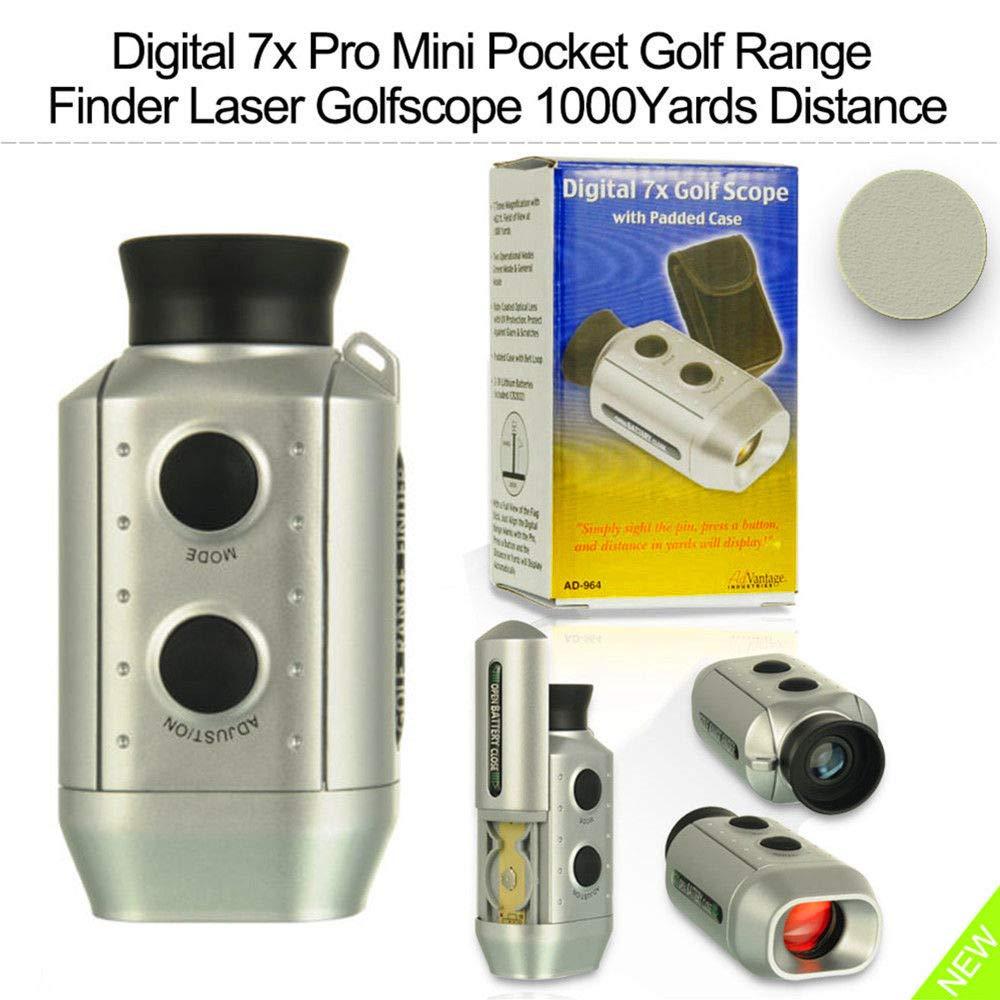 Snow Shop Everything Digital 7X Pro Mini Pocket Golf Range Finder Laser Golfscope 1000Yards Distance by Snow Shop Everything