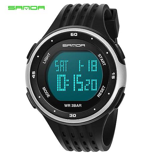 HWCOO SANDA reloj para hombre impermeable reloj electrónico reloj moda pareja reloj popular reloj de los
