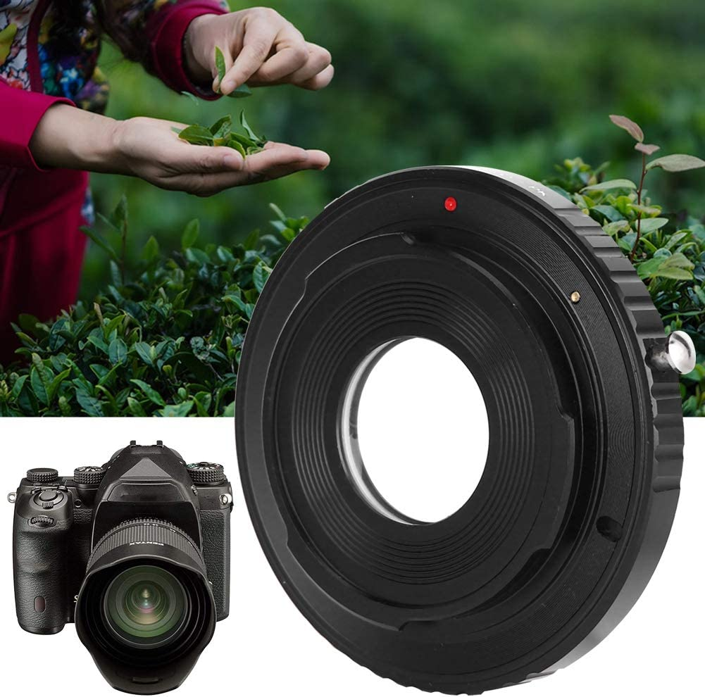 wosume Lens Adapter Ring Glass Durable for Mount Camera Outdoor Camera Mount Lens Manual Operation Manual Focusing Lens Mounting Adapter