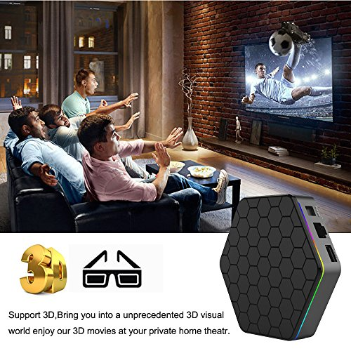 EASYTONE T95Z PLUS Android TV Box,Octa Core Smart TV Box 2GB RAM 16GB ROM Android 7.1 Amlogic S912 Support 2.4G/5G Dual Wifi/1000M LAN/BT 4.0/4K Resolution/3D TV Boxes with Mini Wireless Keyboard by EASYTONE (Image #3)