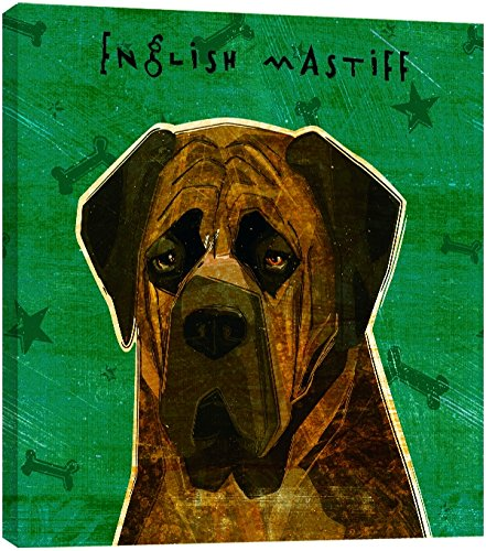 Tree-Free Greetings 84037 Eco Art Wall Plaque Brindle English Mastiff 11.25 by 11.25 by 0.5-Inch