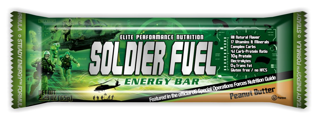 amazon com soldier fuel energy bars real peanut butter 2 29 ounce