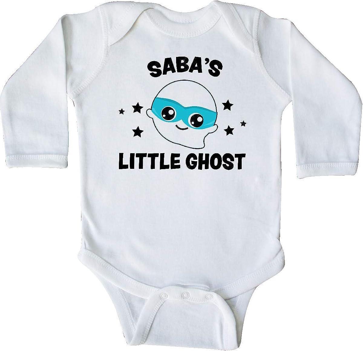 inktastic Cute Sabas Little Ghost with Stars Long Sleeve Creeper