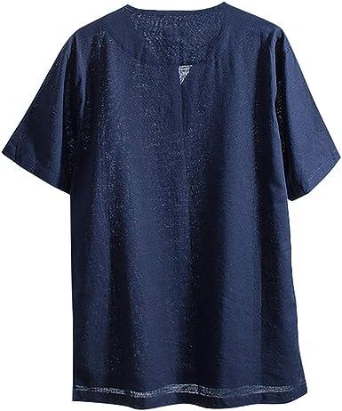 Camisetas Hombre Manga Corta La Camisa Basicas Algodon Blusa 2019 Verano Nuevo Tops Deportivas Gym Running Polo T-Shirt ZOELOVE Casual de algodón Recto y Lino de Manga Corta: Amazon.es: Ropa y accesorios