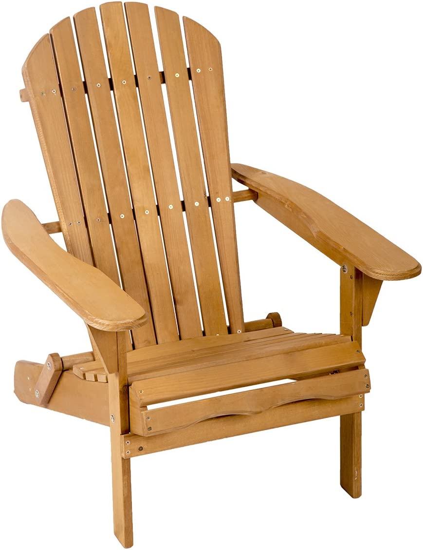 Garden Furniture Lawn Patio Deck Seat Outdoor Wood Adirondack Chair