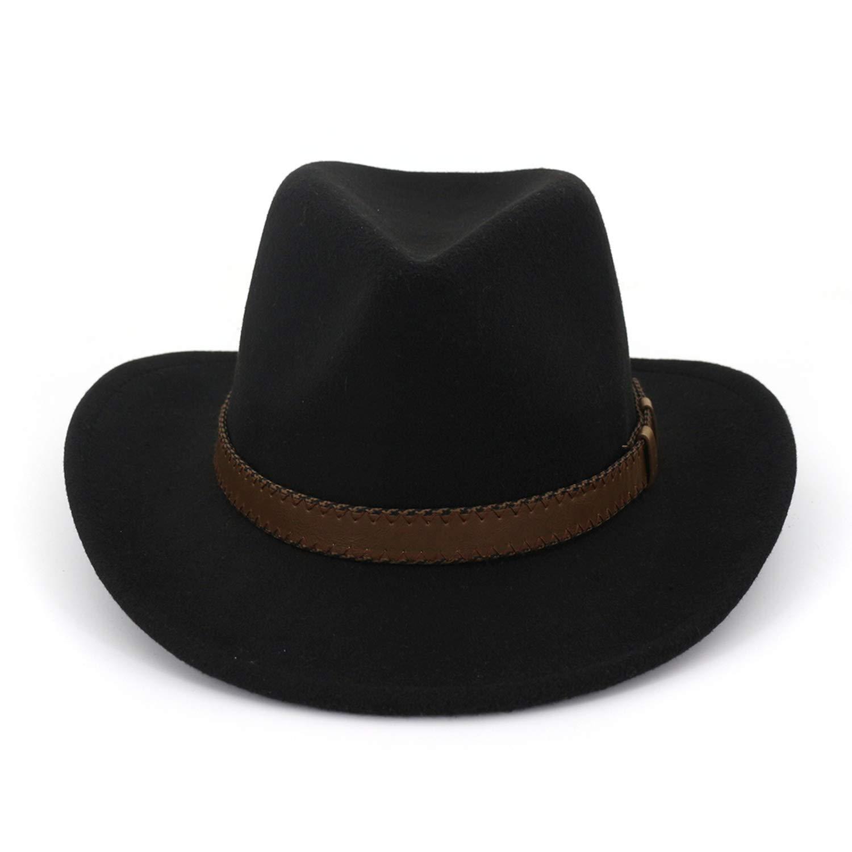 712bd476 ... Coffee KKONION KKONION KKONION Men's Fedora Vintage Western Cowboy Hats  for Men Wide Brim Sun Visor ...