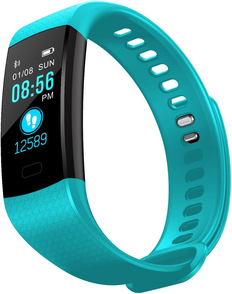 InnKoo Fitness Tracker Watch for Kids Women Men, Waterproof Activity Tracker with HR Heart Rate Blood-Pressure Monitor, Pedometer Steps Calories Counter Smart Wristband, Color Screen Y5