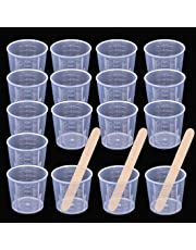 Chougui 50 unidades de vasos medidores de plástico graduado transparente de 30 ml con 50 unidades