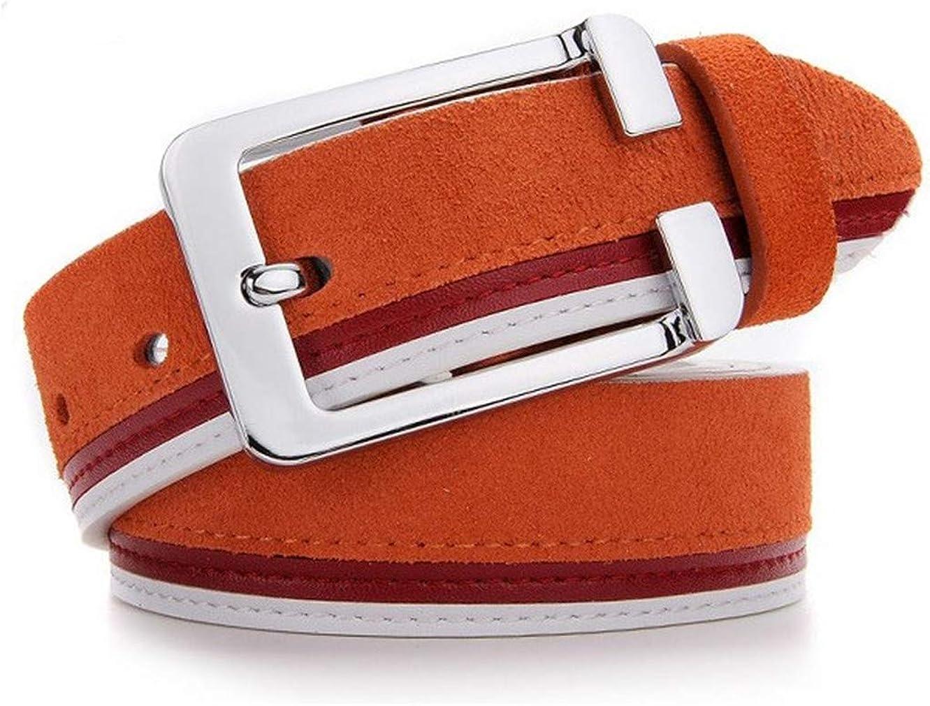 Mens Fashion Suede Button Belt