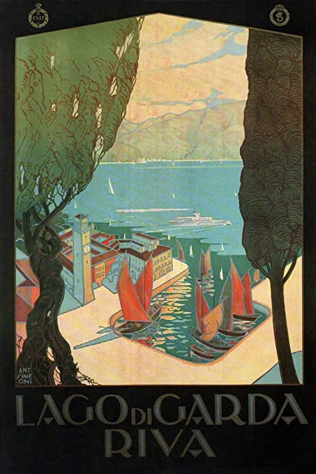 Amazon com: Lago di Garda Riva Lake Northern Italy Vintage