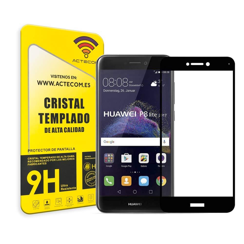 actecom® Protector Pantalla Completa 5D Negro Cristal Templado ...