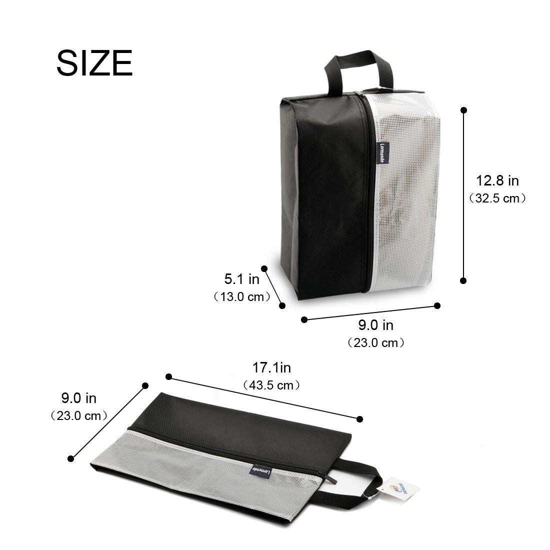 Lermende Travel Shoe Bags Waterproof Nylon Organizer Storage Tote Pouch 5pcs by Lermende (Image #2)