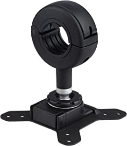 Atdec SD-DO QuickShift Donut Pole Mount Accessory (up to 26.4lbs displays) with Quick Release Mechanism and 75x75/100x100 VESA Support, Black