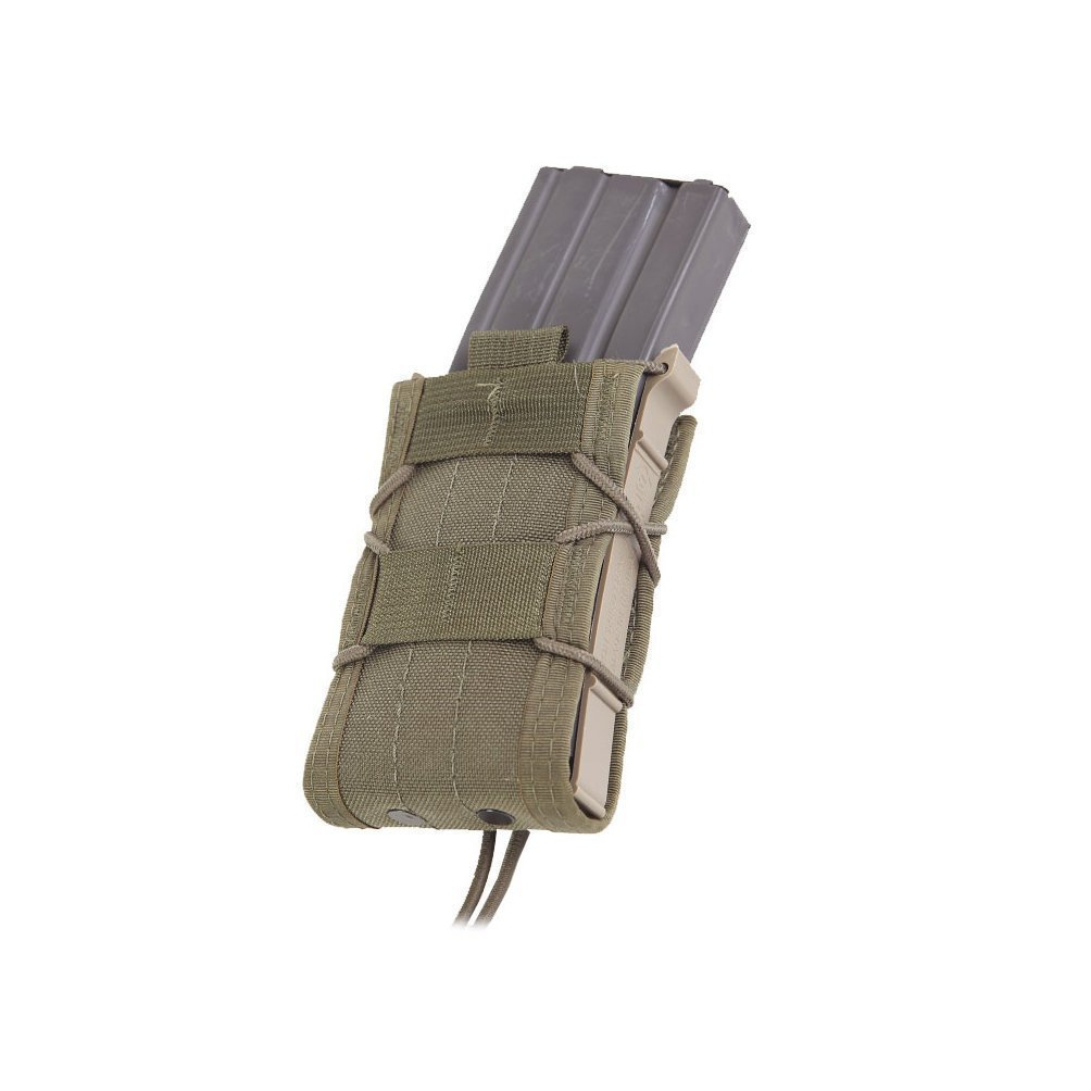 High Speed Gear Single Rifle Taco Pouch | Universal Rifle Magazine Holster | Rapid Response and MOLLE Compatible (Olive Drab, Two Pack) by High Speed Gear