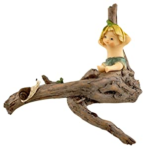 Top Collection Miniature Fairy Garden and Terrarium Sprite with Snail Figurine